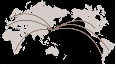 世界80ヵ国に分散投資